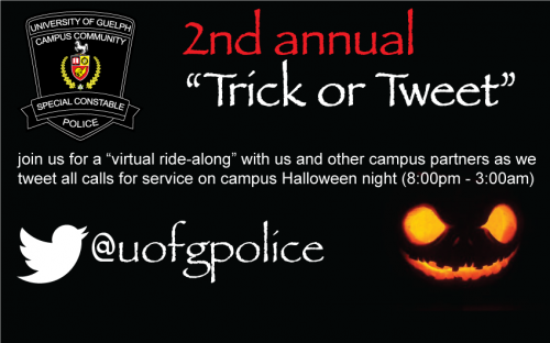 Trick or Tweet postcard for Wednesday October 31, 2012