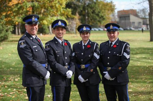 Picture of four officers